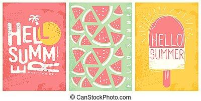 Summer joy creative artistic banners