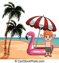 Summer kids cartoon