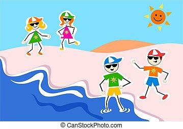summer kids - at the beach