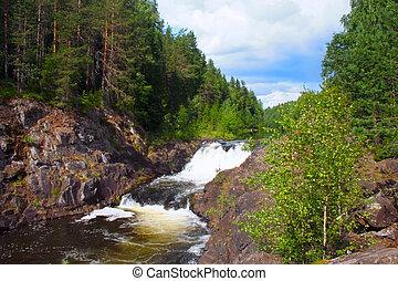 waterfall of Kivach to Kareliyas