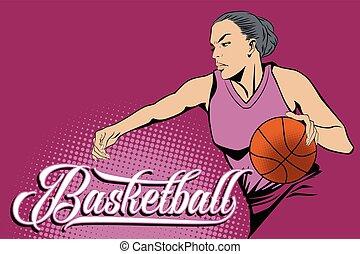 Summer kinds of sports. Basketball.