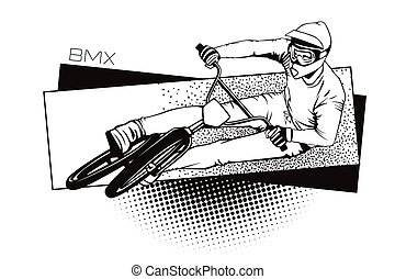 Summer kinds of sports. BMX cycling