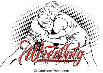Summer kinds of sports. Wrestling.