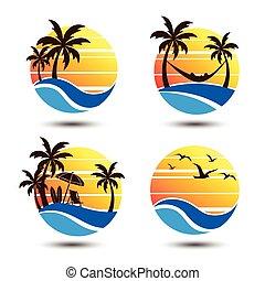 Summer label - Summer holidays design Labels, Badges, emblem
