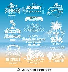Summer labels set