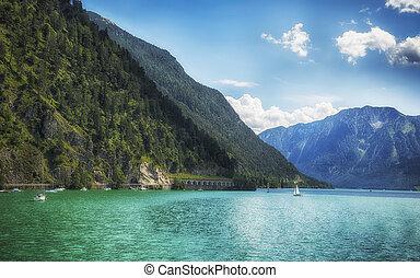 summer lake Achensee, Austria