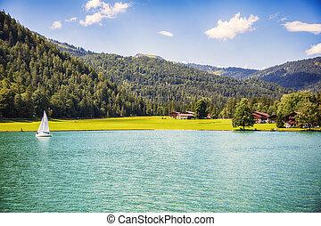 summer lake Achensee, Tyrol
