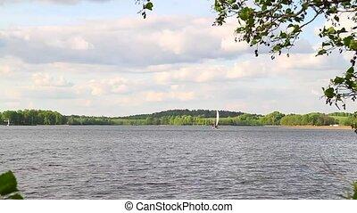 summer lake and boat