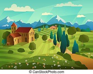 Summer Landscape Background