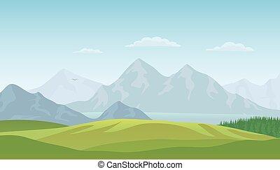 Summer landscape background. Vector - Summer landscape...