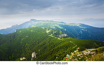 summer landscape in Ceahlau mountain, Romania