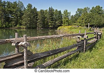 Summer landscape in Eastern Canada