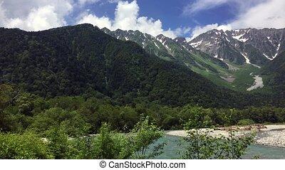 summer landscape in Japan - Beautiful summer landscape in...
