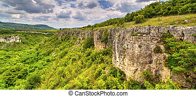 Summer landscape in mountain range