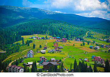 Summer landscape in the Carpathian mountains