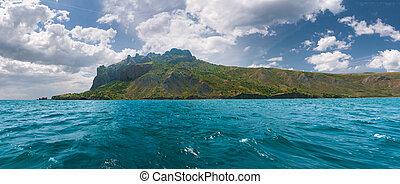 Summer landscape in the Crimea. Karadag