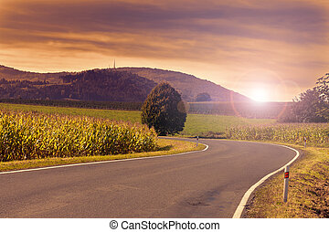 Summer landscape in the Czech Republic