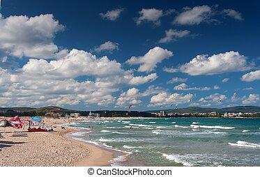 summer landscape of beach