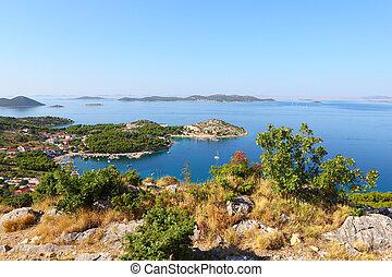 Summer landscape of dalmatia