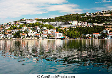 Summer landscape of Dalmatian coast, Croatia