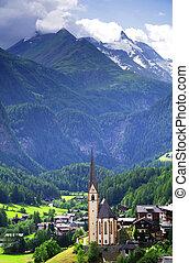 Summer landscape of Heiligenblut village in Austria, Europe