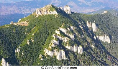 Summer landscape of rocky mountain, aerial drone - Mountain...