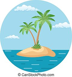 Summer landscape of the tropical island