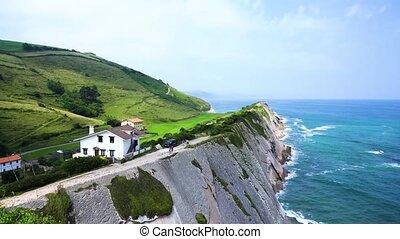 Zumaia coast, Pais Vasco Spain - Summer landscape of Zumaia...