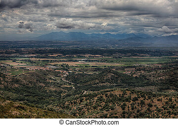 Summer landscape. Spain, Catalonia