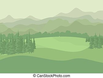 Summer landscape. vector