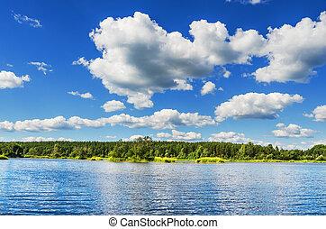 Summer landscape with a beautiful sky - Beautiful summer ...