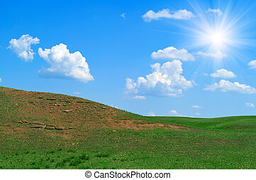 landscape with hills