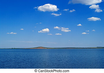 quiet water of lake and hill