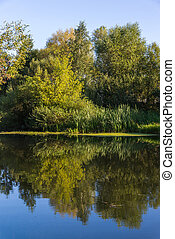 summer landscape with river in central Russia