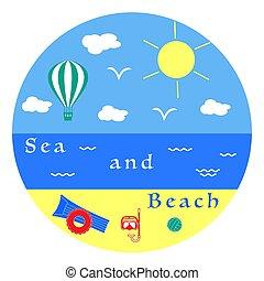Summer leisure. Entertainment on the beach.