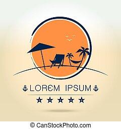 summer logo on white background