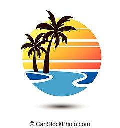 Summer logo - Summer holidays design Labels, Badges, emblem...