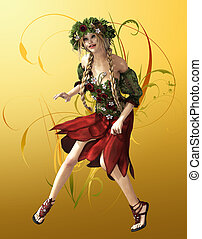 Summer Maid - a fairylike girl that represented the...
