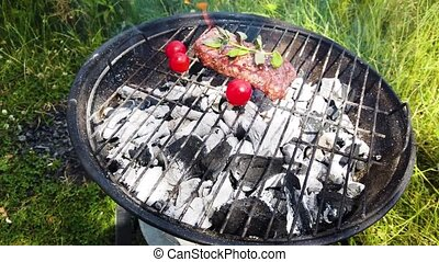 Summer meat grill - Summer meat bbq grill party, beef steak...