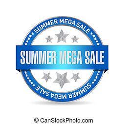 summer mega sale Seal stamp message concept