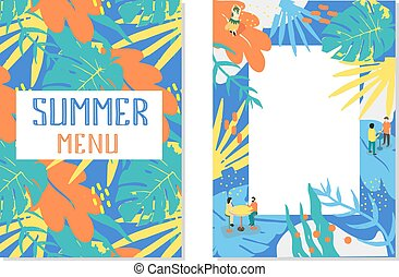 Summer Menu For Your Cafe Or