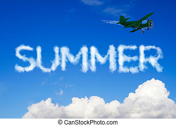 Summer message in the sky