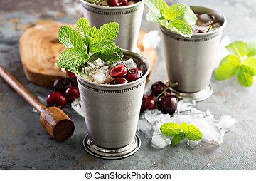 Summer mint julep cocktail
