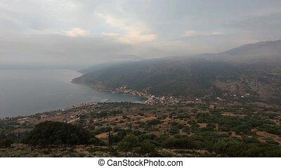 Summer Morning Kefalonia Coastline - Morning misty summer...