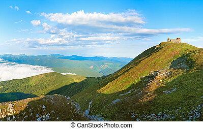 Summer morning on Pip Ivan mountain