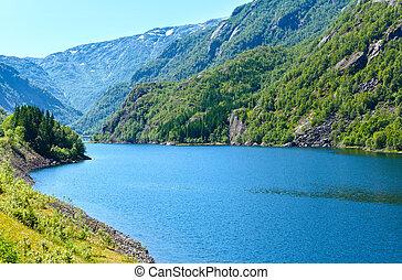 Summer mountain lake (Norway).