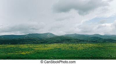 Summer mountain ridge.