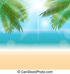 Summer Natural Background Vector Illustration