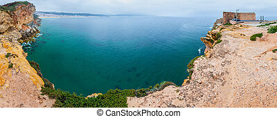 Nazare coast panorama (Portugal).