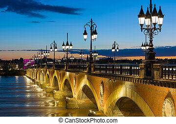 Summer night in Bordeaux